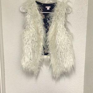 Xhilaration Jackets & Coats - Sleeveless Faux Fur Vest